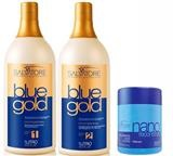 Kit Salvatore Blue Gold + Máscara Nano Reconstrutor 500ml